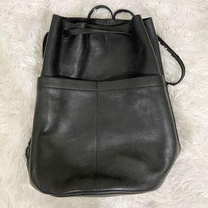 Madewell Leather Convertible Bucket Bag Backpack